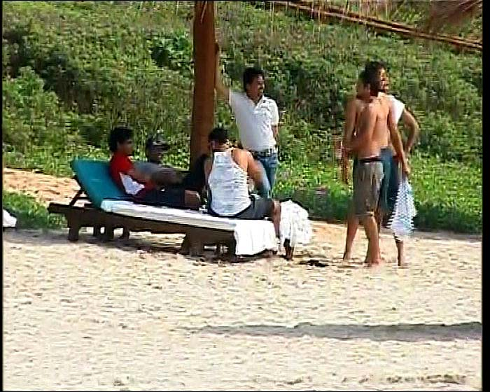 Team India's day out at Goa beach