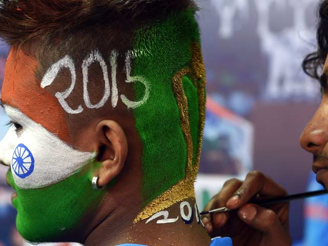 Photo : Indian Fans Gear Up for World Cup Clash vs Pakistan