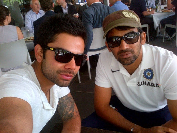 Zaheer, Kohli enjoy Australian lunch