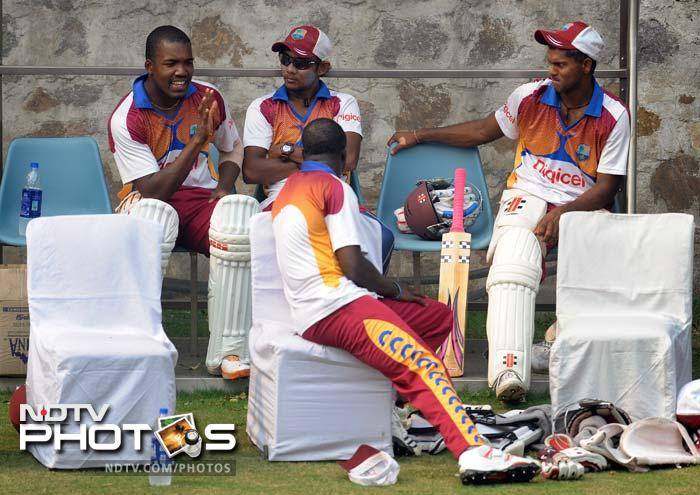 India, West Indies sweat it out