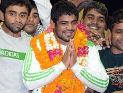 Photo : India's Olympic heroes and their homecoming