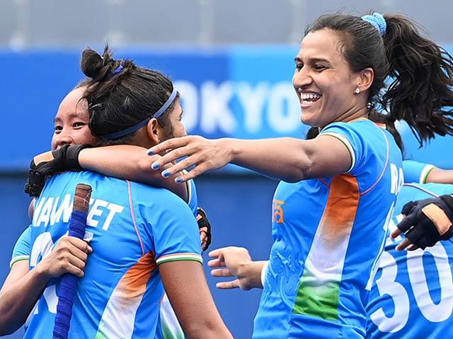 Photo : Indian Women's Hockey Team Stuns Australia To Make Olympic Semis