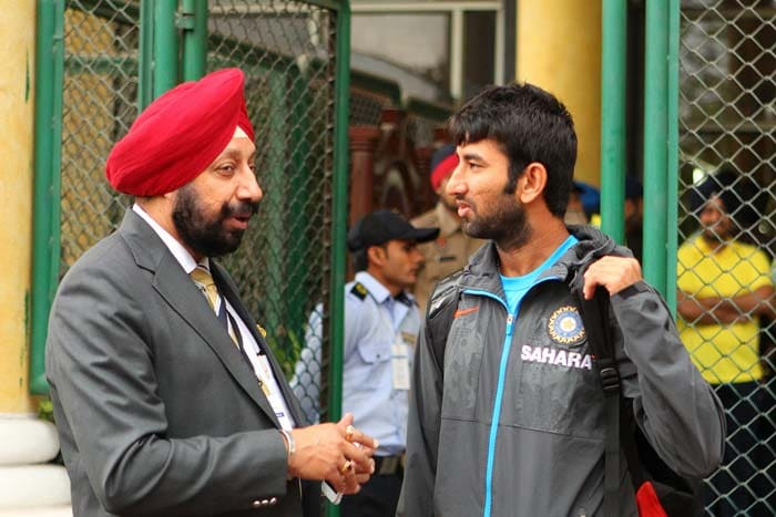 Indian team gets a taste of wet conditions in Mohali
