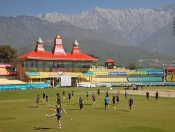 Photo : India, New Zealand Sweat it Out on Eve of 1st ODI in Dharamsala