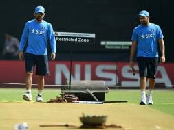 Photo : World T20: Mahendra Singh Dhoni's Men Train Hard Ahead of West Indies Semifinal Clash
