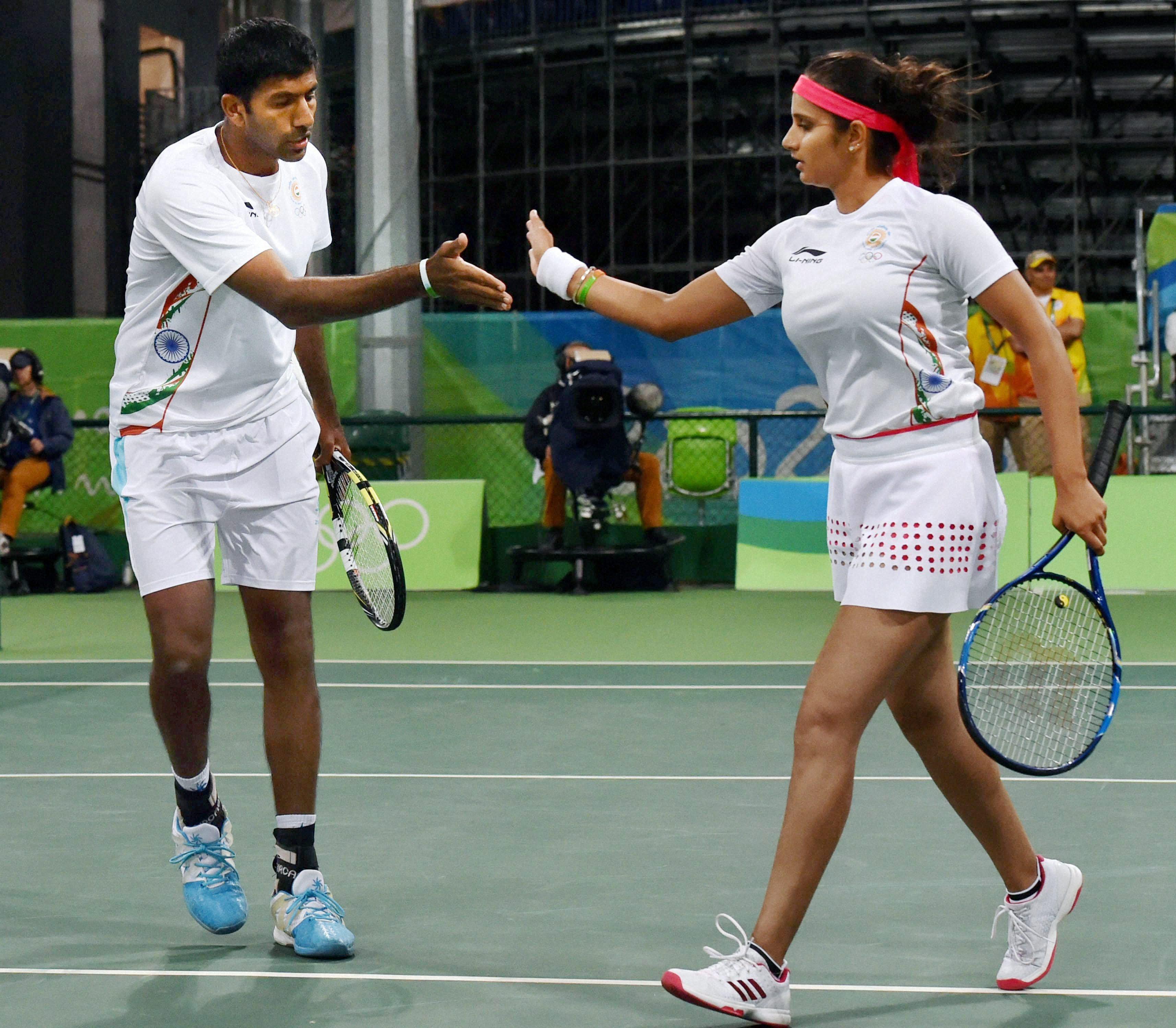 Photo : रियो 2016: भारत के पदक की उम्मीद बढ़ी, सानिया- बोपन्ना की जोड़ी सेमीफाइनल में