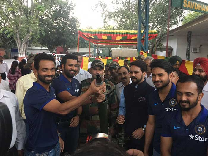Rohit Sharma, Ajinkya Rahane And Other Cricket Stars Spend Special Evening With Jawans