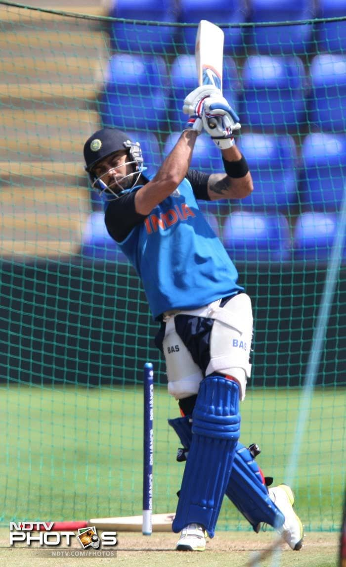 ICC Champions Trophy: Kohli, Dhawan hit the nets hard; Mahela, Malinga 'on the ball'