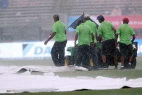 Photo : 2nd T20I: Rain Spoils India's Chances as Windies Take Series 1-0