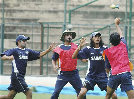 Indian players at conditioning camp