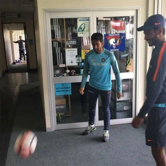 Team India Gear Up For The First Test Against South Africa At Cape Town