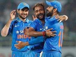 Photo : Amit Mishra's Spin Web Baffles New Zealand, India Clinch Series