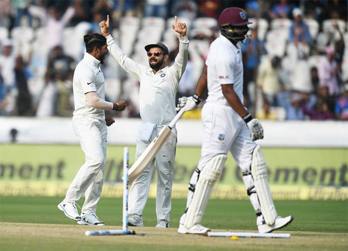 India Thrash Windies By 10 Wickets In Second Test, Seal Series 2-0