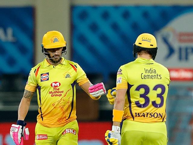 Photo : शेन वाटसन और फाफ डु प्लेसिस की अर्धशतकीय पारी की मदद से चेन्नई ने पंजाब को 10 विकेट से हराया