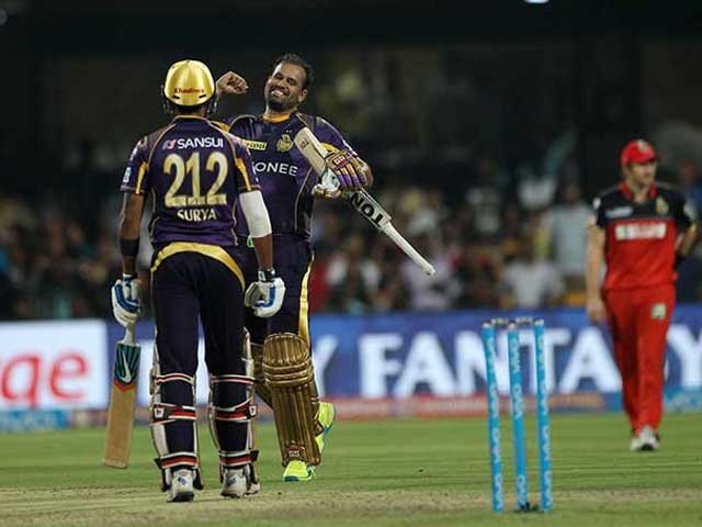 IPL: Yusuf Pathans Blazing 60* Gives KKR Five-Wicket Win Over RCB