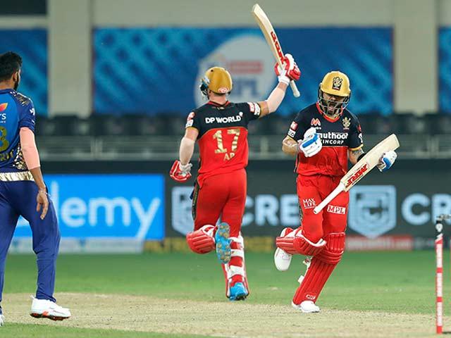 Photo : टी20 लीग: बैंगलोर ने सुपर ओवर में मुंबई को हराया