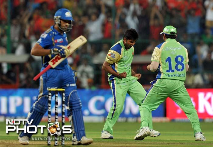 IPL 5: Mumbai clinch a thriller over Bangalore