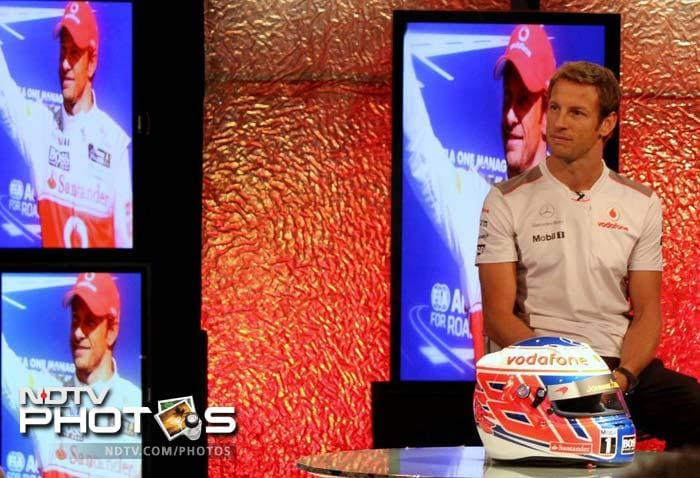 Jenson Button at NDTV