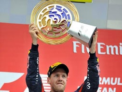 Korean GP: Sebastian Vettel closes in on title with win in a dramatic race