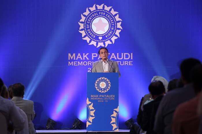 Sunil Gavaskar delivers MAK Pataudi Memorial Lecture