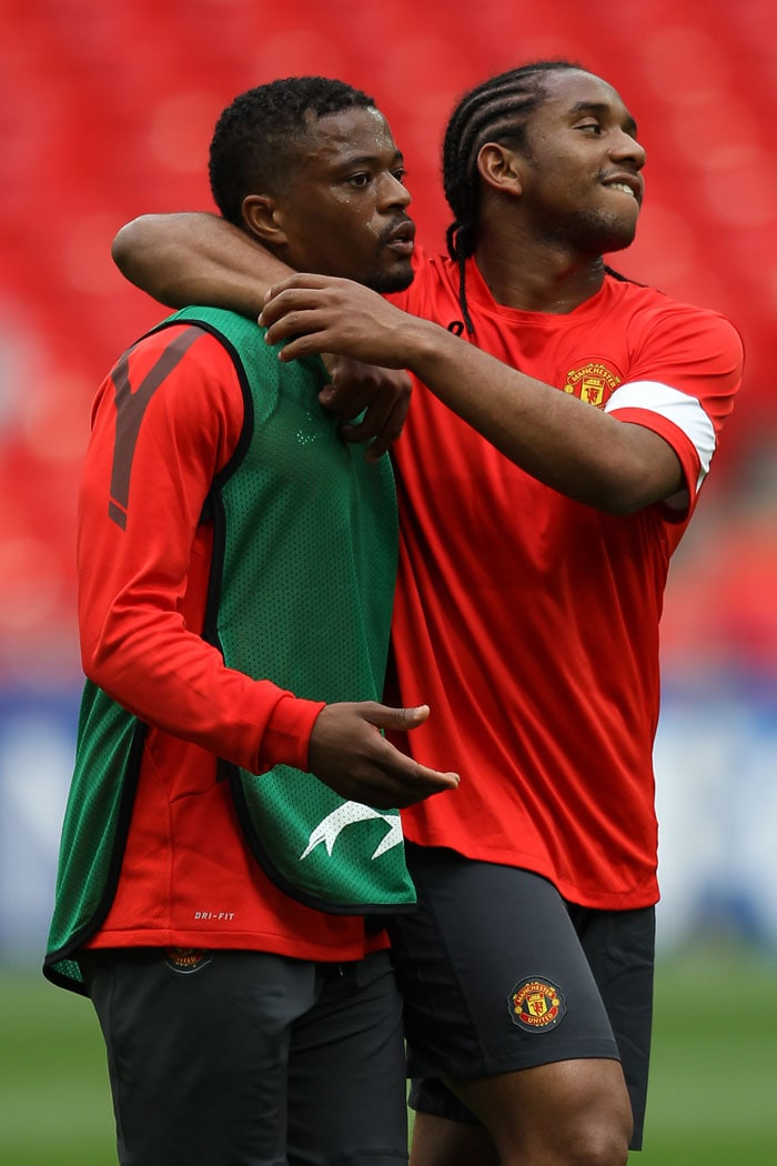 Man U, Barca practice at Wembley