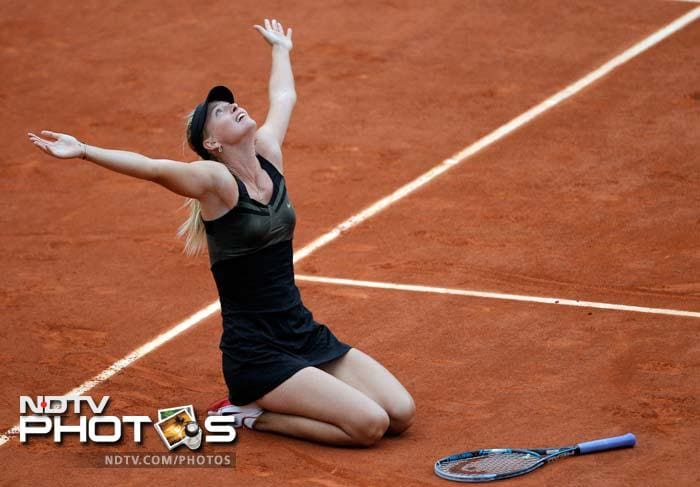 Sharapova wins maiden French Open title