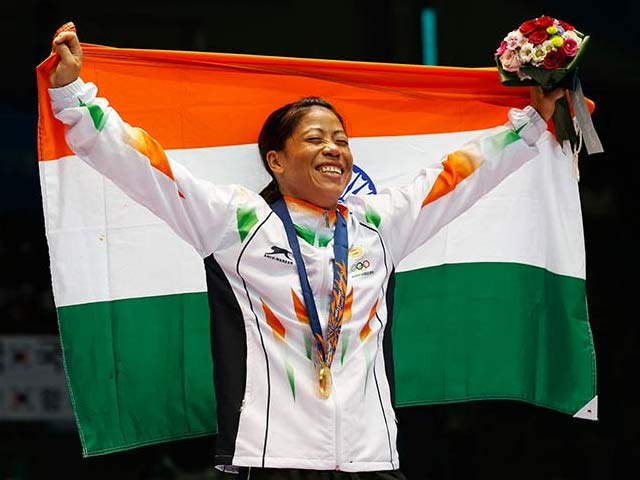 Photo : Asian Games: Cheers for Mary Kom, Tears for Sarita Devi