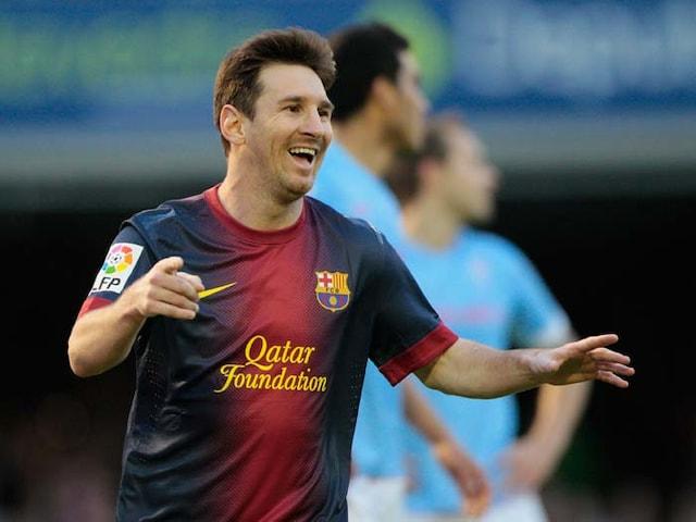 Messi breaks record; but Barca held by Celta Vigo