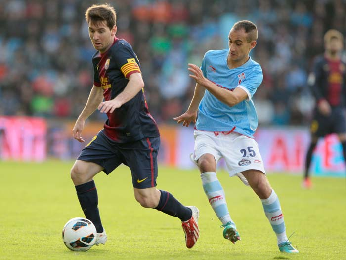Messi breaks record; but Barca held by Celta Vigo