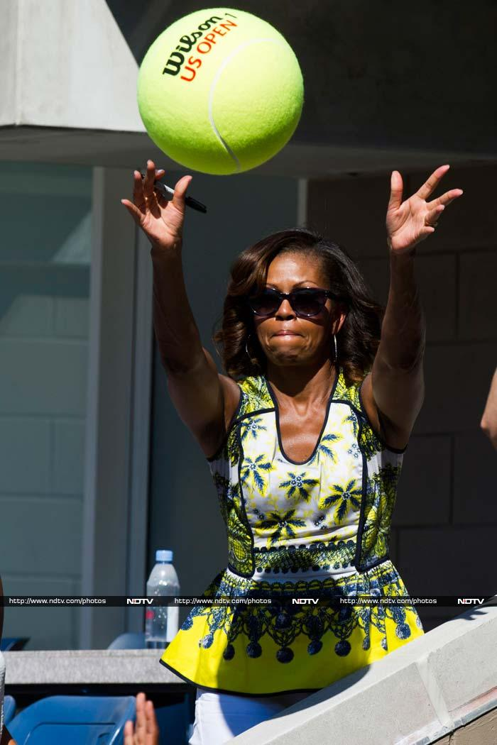 US Open: Michelle Obama's rendezvous with tennis