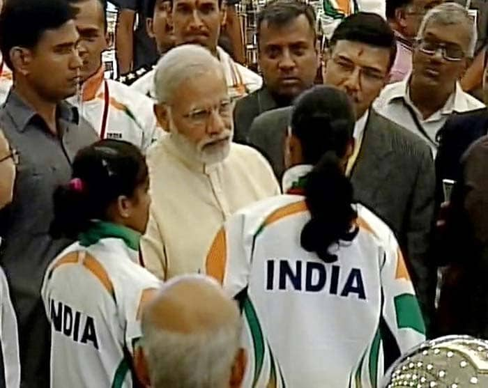 d74d49b97 Prime Minister Narendra Modi Wishes Luck To India s Rio Olympics Contingent