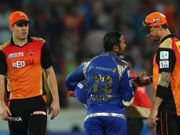 Photo : IPL 8: Mumbai Thrash Hyderabad to Book Place in Playoffs