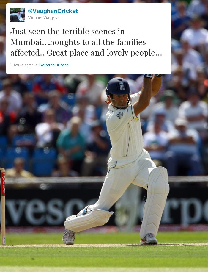 World of cricket tweets on Sachin's Mumbai