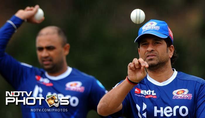 Sachin leads Mumbai Indians' training