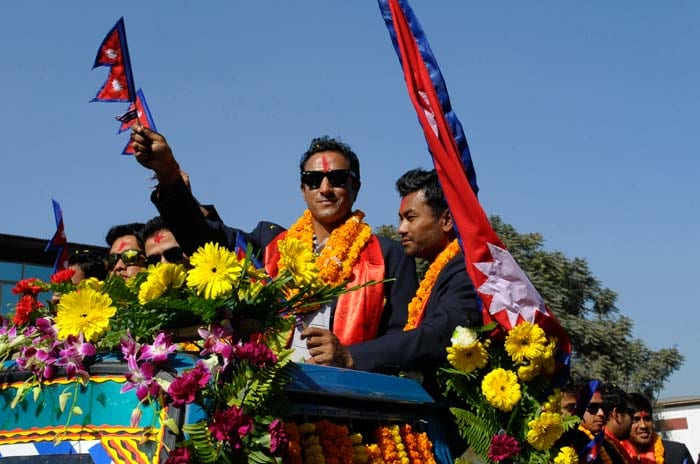 Nepal cricket team welcomed home in style
