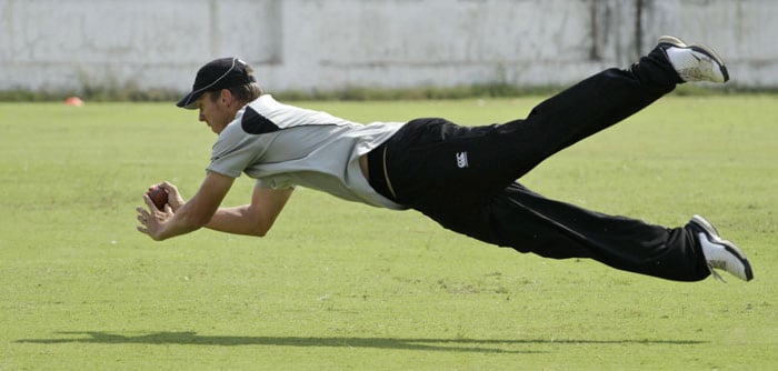 New Zealand's practice session