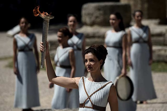 Olympic Flame Lit in Greece as Rio Countdown Starts