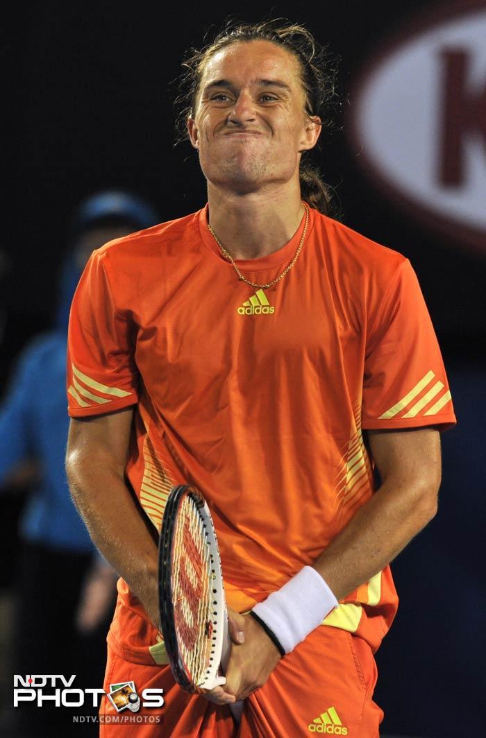 Australian Open: Candid on court