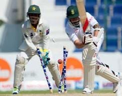 Photo : Pakistan stun No. 1 ranked South Africa in 1st Test