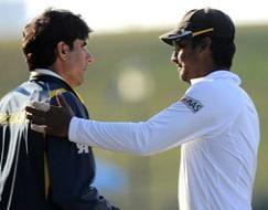 Photo : Pakistan, Sri Lanka slug it out as first Test ends in a draw