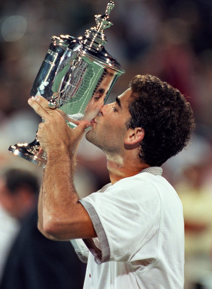 Pete Sampras: Serving and volleying @ 40