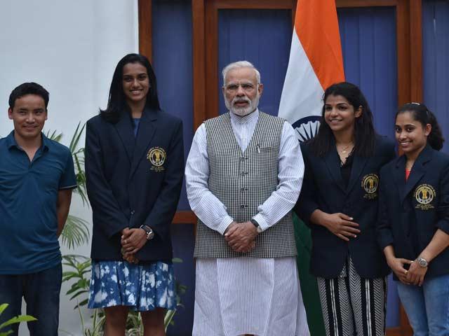 Photo : पीएम मोदी ने की राष्ट्रीय खेल पुरस्कार विजेताओं की मेजबानी