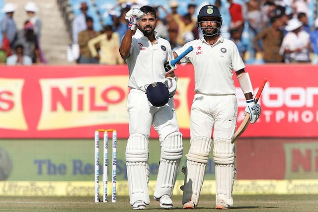 1st Test: Murali Vijay, Cheteshwar Pujara Lead Indias Fightback in Rajkot