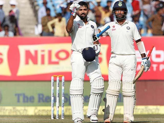 1st Test: Murali Vijay, Cheteshwar Pujara Lead India's Fightback in Rajkot