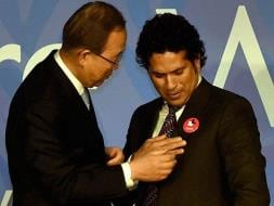 Photo : When Sachin Tendulkar Met Ban Ki Moon