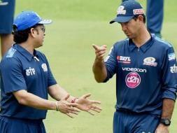 Photo : Sachin Tendulkar Guides Mumbai Indians Ahead of IPL 8