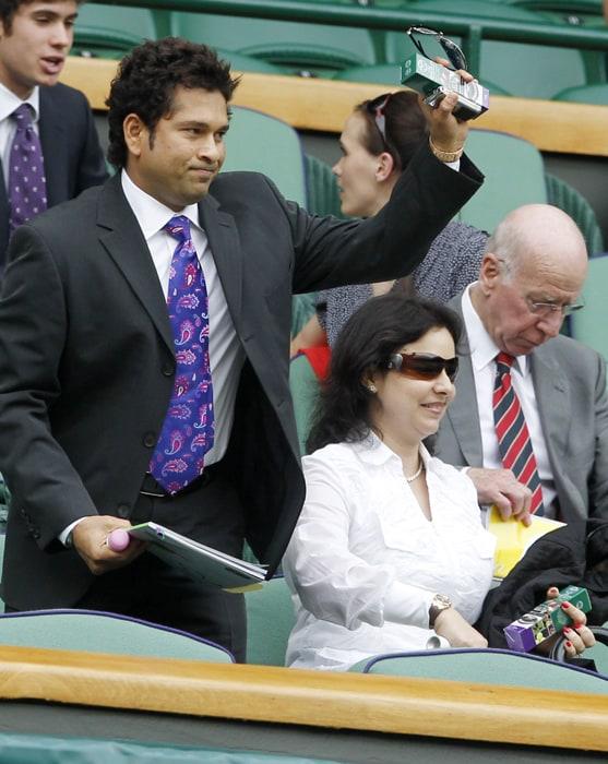 Sachin Tendulkar at Wimbledon