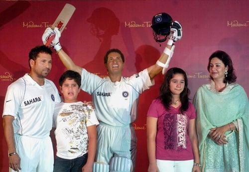 Sachin's wax figure unveiled
