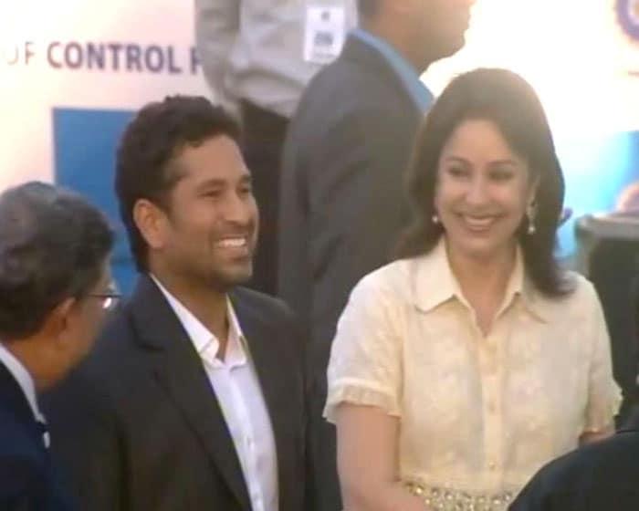 Anjali, Sakshi at the BCCI Awards