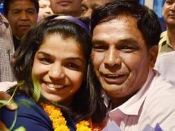 Photo : Sakshi Malik Receives Grand Welcome On Return From Rio